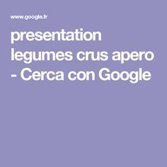 presentation legumes crus apero - Cerca con Google