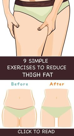 """9 Simple & Best Exercises To Reduce Thigh Fat Fast At Home !Having fat or plump does mean that you cannot get rid of it, and also this should not make you think negatively about yourself. And as the proverb goes, """"when there is a will, there is a way"""". Reduce Thigh Fat, Exercise To Reduce Thighs, Reduce Belly Fat, Easy Workouts, At Home Workouts, Belly Fat Workout, Butt Workout, Lose Weight, Weight Loss"""