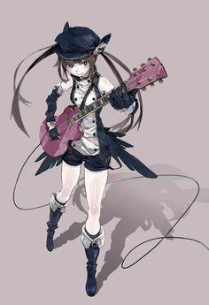 「ギター少女」/「しぐま」のイラスト [pixiv]