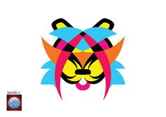 Psychedelic-Tiger-Logo-Design-asidebrands-Naina