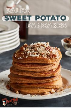 Pancakes are always a great way to start your day. These paleo pancakes are made with sweet potatoes, keeping them healthy and satisfying! Try out our recipe to make breakfast your favorite meal. Breakfast Snacks, Paleo Breakfast, Breakfast Time, Paleo Pancakes, Sweet Potato Pancakes, Paleo Recipes Easy, How To Make Breakfast, Paleo Dessert, Consciousness