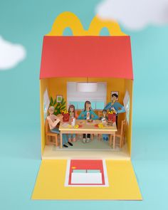 Happy Meal / @chloefleury Paper Art for McDonald's Mcdonalds, Diy Paper, Paper Crafts, Paper Illustration, Packaging, Paper Artist, Deco Design, Mail Art, Paper Cutting