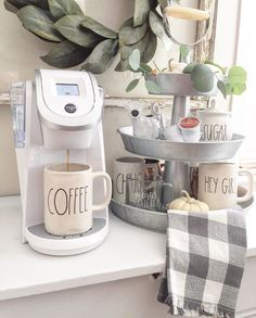 Coffee station with the favorite mugs I want!