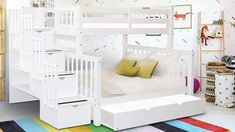 Under Bed Drawers, Bunk Beds With Drawers, Bunk Beds With Storage, Bunk Bed With Trundle, Full Bunk Beds, Cheap Bunk Beds, Bunk Beds For Sale, Bunk Beds For Girls Room, Kids Bunk Beds