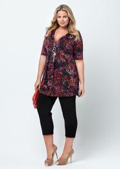 Fashion Plus Size - Large Size Womens Clothes, Tops & Dresses | Fashionable Plus Size Clothes - ROSITA TUNIC - Virtu