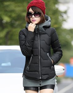 Women's Slim Fit Winter Coat Short Jacket with Removable Hem - Winter Clothes Office Fashion Women, Womens Fashion For Work, Beach Maxi Skirt, Christian Clothing, Winter Outfits Women, Winter Clothes, Women's Fashion Dresses, Winter Coat, Slim