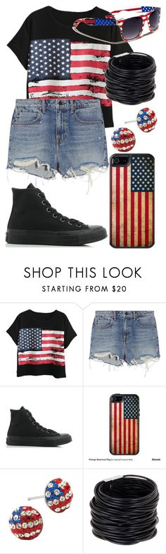 """Don't Wanna Be An American Idiot (Song By Green Day)"" by arithegeek11 on Polyvore featuring Chicnova Fashion, Alexander Wang, Converse, OtterBox and Saachi"