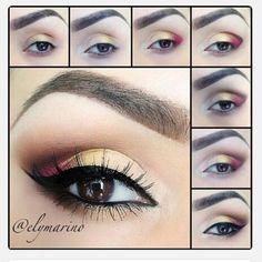 yellow and wine eye makeup tutorial #evatornadoblog: