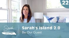 Design Life: Sarah's Island Be Our Guest - Guest Room, Bunkie and Bathroom Ideas (Ep. Interior Design Videos, Island 2, Porch Wall, Sarah Richardson, Cottage Living Rooms, Taking Shape, Modern Family, Girl Room, How To Look Pretty