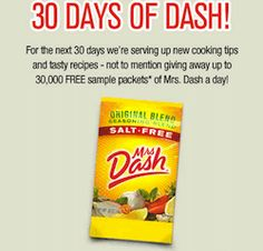 Check out Mrs. dash 30 day challenge!