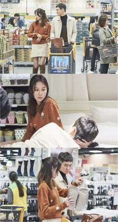"[Spoiler] ""Incarnation of Jealousy"" Kong Hyo-jin and Ko Kyeong-pyo grocery shopping @ HanCinema :: The Korean Movie and Drama Database"