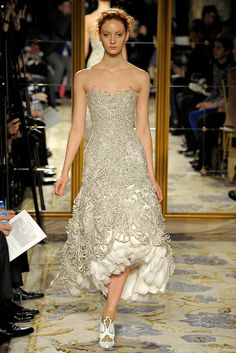 Marchesa Fall 2012 Ready to Wear  Tea length and non-white - something to consider. :)