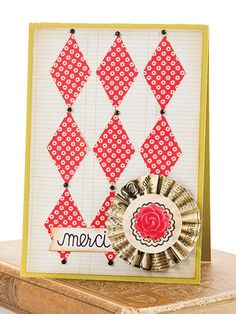 Paper Crafting - Card Patterns - Thank You Card Patterns - Merci