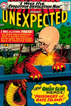 """Tales of the Unexpected #93, Jack Sparling cover, """"I Was the Evolution-Devolution Man!"""""""