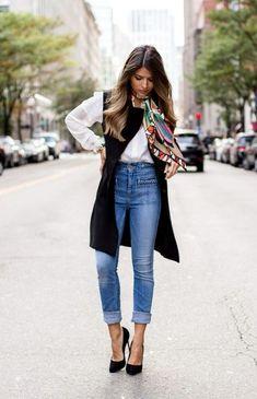 Outfits con jeans para lucir fantástica de día y de noche