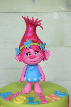 Poppy cake topper- Trolls