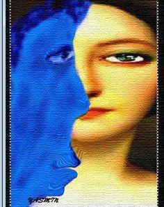 لوحة للفنانة التشكيلية السورية ياسمين القاسم  100