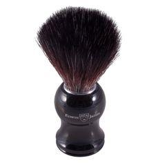 Edwin Jagger Black Synthetic Fiber Shaving Brush Black - Large - Synthetic Shaving Brushes - Shaving Brushes