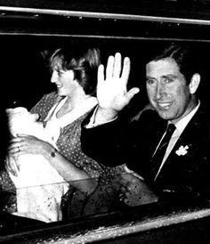 Princess Diana and Prince Charles with Prince William