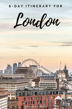With 6 days in London you can explore a lot of the city and travel around a bit more. Here's my guide to the perfect itinerary.