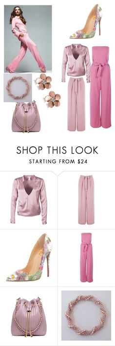 """""""pink office"""" by stylerheaven ❤ liked on Polyvore featuring Miss Selfridge, Boohoo and Allurez"""