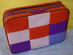 Fabulous Vintage 1960s Mod Retro Patchwork Suitcase by retrowarehouse, $36.00