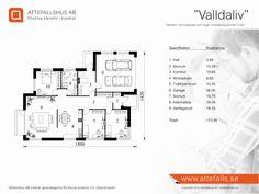 """Villa """"Henånliv"""" planritning  Besök www.attefalls.se"""