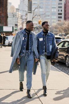 New York Fashion Week Herbst 2019 Teilnehmer Bilder - Street Style High Fashion Men, High Street Fashion, Mens Fashion Week, Fashion Mode, Denim Fashion, Look Fashion, Autumn Fashion, Fashion Quiz, Classy Fashion