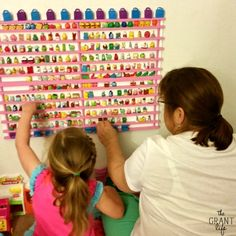DIY Shopkins Storage Rack! Could come in handy now that my daughter is obsessed with these.