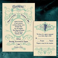 Custom Victorian Wedding Invitations by PuttinOnTheGlitz4U on Etsy, $3.95