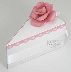 Use Accucut cake slice box die
