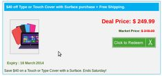 Get a great deals on latest Surface & Surface 2 Pro tablet touch or type covers one week only: Save $40 on any Type or Touch Cover with a Surface. Offer limited time only. No promo code required. Shop now! Surface 2, Market Price, Great Deals, Coding, Touch, Marketing, Type, Cover, Shop