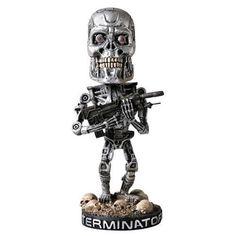 TERMINATOR 2: NIB Head Knocker Skeleton Predator Bobblehead NECA SCHWARZENEGGER #NECA