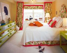 bedrooms with bright pattern and color | fun pattern and color from the fun man himself mr alder