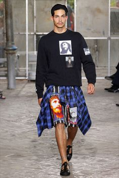 American gang culture and religion collide at the Givenchy by Riccardo Tisci Spring/Summer 2016 menswear catwalk show.