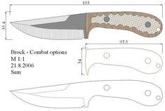 Чертежи ножей 10 вариантов (ст.13)