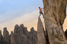 Go outdoor rock climbing