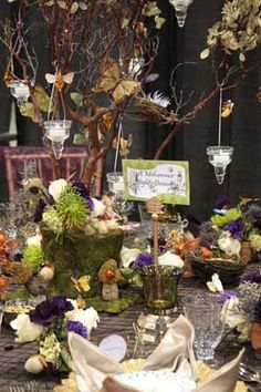 Enchanted Forest Wedding Inspired Decorations.