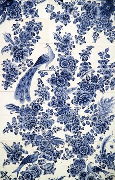 Delft, Peacocks and Panel quilts on Pinterest