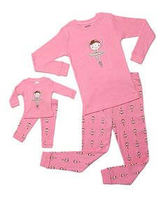 Loving this Ballerina Pajama Set & Doll Outfit - Toddler & Girls on #zulily! #zulilyfinds
