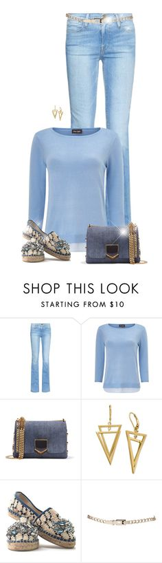 """Blue Sunday"" by sherry7411 ❤ liked on Polyvore featuring Frame Denim, Phase Eight, Jimmy Choo and Maria La Rosa"