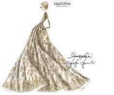 Zobacz zdjęcie Szkice znanych projektantów: Valentino    Więcej na ModaCafe! w pełnej rozdzielczości