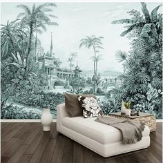 Online Shop beibehang Custom wallpaper mural hand-painted tropical rainforest landscape background wall home decoration papel de parede 3d Wallpaper Mural, Silk Wallpaper, Cheap Wallpaper, Custom Wallpaper, Landscape Background, Landscape Walls, Study Bed, Shops, Sound Absorbing
