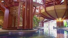 13-Level treehouse home with indoor pool, elevator fridge and more.