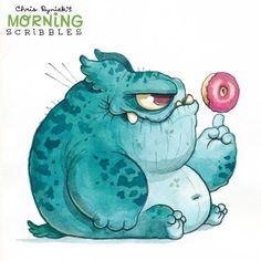 Chris Ryniak is creating Friendly Monster Drawings! Cute Monsters Drawings, Cartoon Monsters, Little Monsters, Cartoon Drawings, Cartoon Art, Cute Drawings, Animal Drawings, Drawing Sketches, Doodle Monster