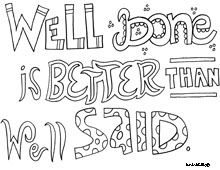 All Quotes Coloring Pages. mANY different quotes to color