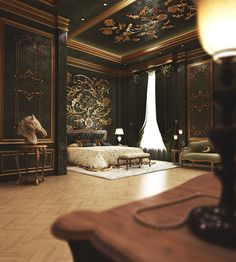 4 For Behance Luxury Bedroom Design, Master Bedroom Design, Luxury Home Decor, Luxury Interior, Home Interior Design, Dream Home Design, House Design, Royal Room, Castle Bedroom
