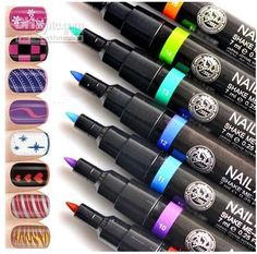 Wholesale Tattoo Machine - Buy Wonderful Lady Nail Art Pen Painting Design Drawing Tool 16 Colours for Option, $1.15 | DHgate