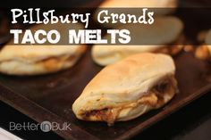 Taco Melts Recipe With Pillsbury Grands Biscuits #PillsburyBiscuits #sponsored FAST and EASY!