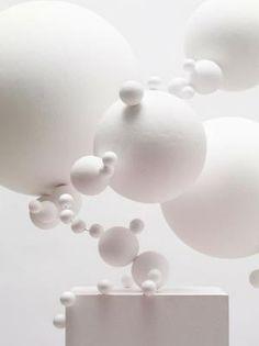 White art installation by justine